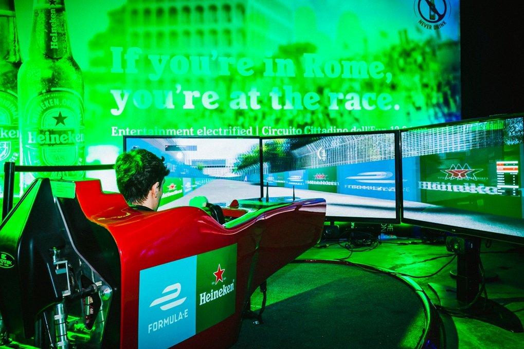 Il Simulatore Formula E Protagonista all'Evento Privato di Heineken - Teatro Atlantico Roma